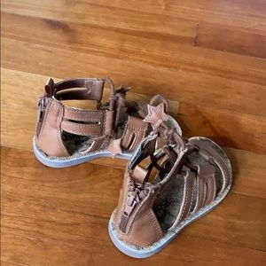 Cute gladiator brown toddler sandals